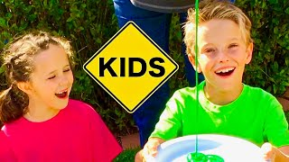 Color Paint Challenge with Sign Post Kids! Will it Roll?
