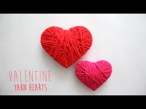 DIY: Valentine Yarn Hearts