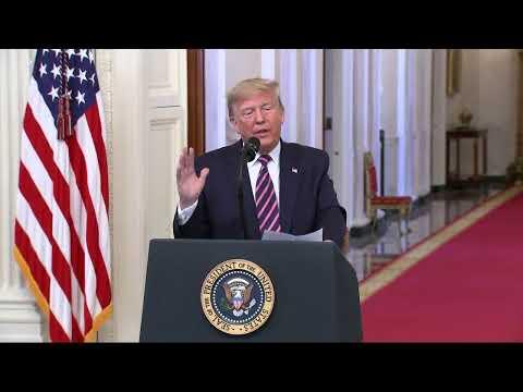 Прямой эфир: специальное заявление президента Трампа
