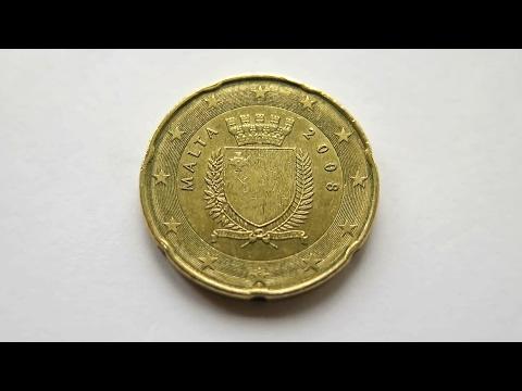 20 Euro Cent Coin :: Malta 2008