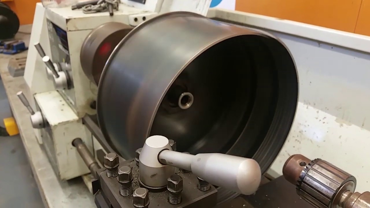Electric Car Motor Prototype: Rotor for Triple SmartDrive Stator testing in  Lathe