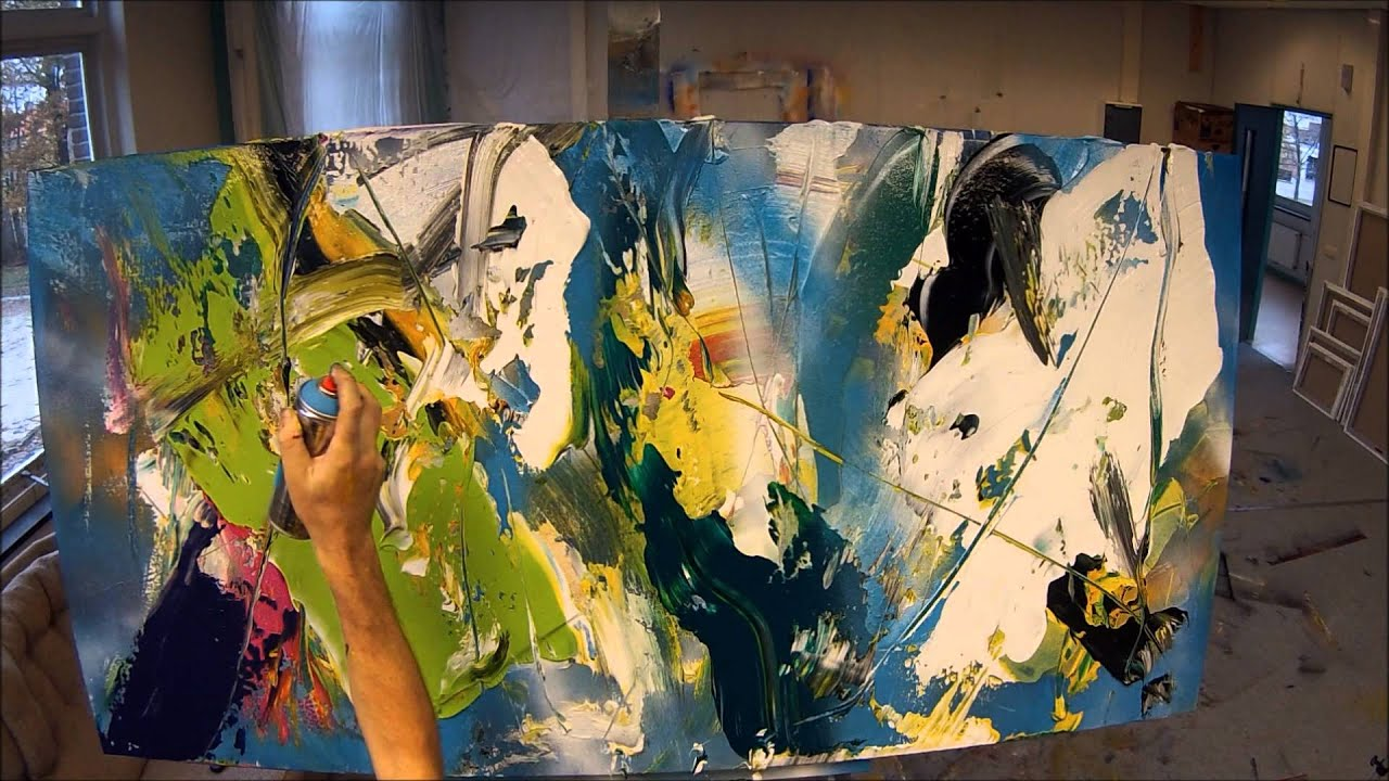 Learn To Paint Abstract Painting Solving Chaos Wet On Wet With Big Surfaces Hd By Jan Van Oort