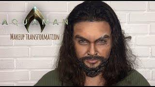 AQUAMAN (JASON MOMOA) makeup transformation