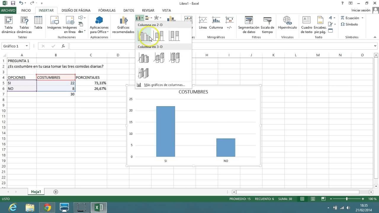 Representaciones Graficas Para Una Pregunta De Encuesta En Excel