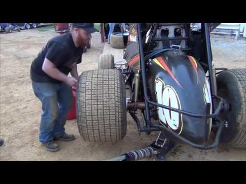Trail-Way Speedway 358 Sprint Car Highlights 6-24-16