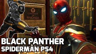 BLACK PANTHER in Spiderman PS4 , WAKANDA EMBASSY
