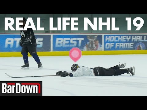 DOING WEIRD NHL 19 MOVES IN A REAL LIFE GAME
