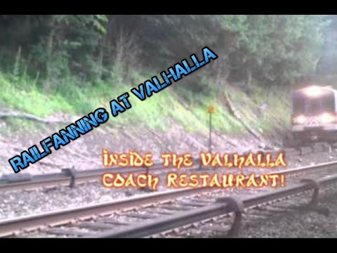 Railfanning at Valhalla inside the Valhalla Crossing Restaurant - Harlem Line Metro North