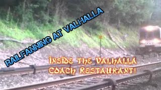 Railfanning at Valhalla inside the Valhalla Coach Restaurant. Harlem Line Metro North