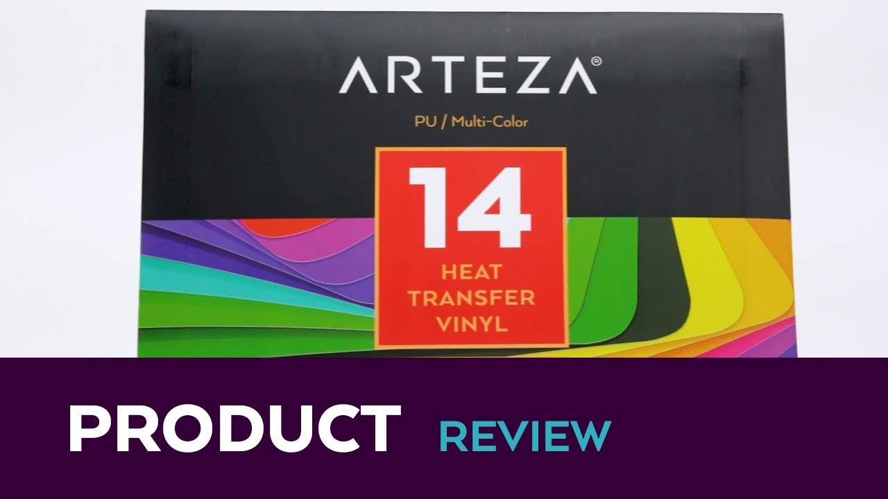 Arteza Heat Transfer Vinyl Arteza Heat Transfer Vinyl Assorted Colors 14 Sheets