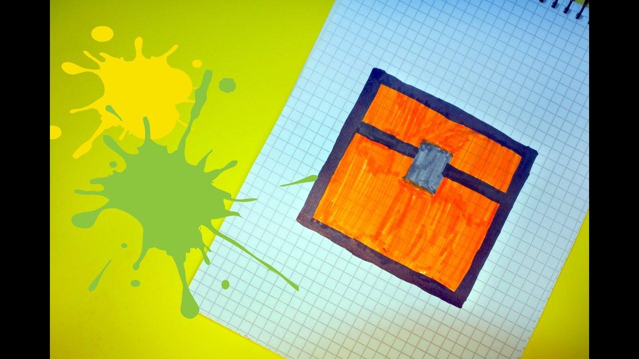 фото рисунки майнкрафт по клеточкам