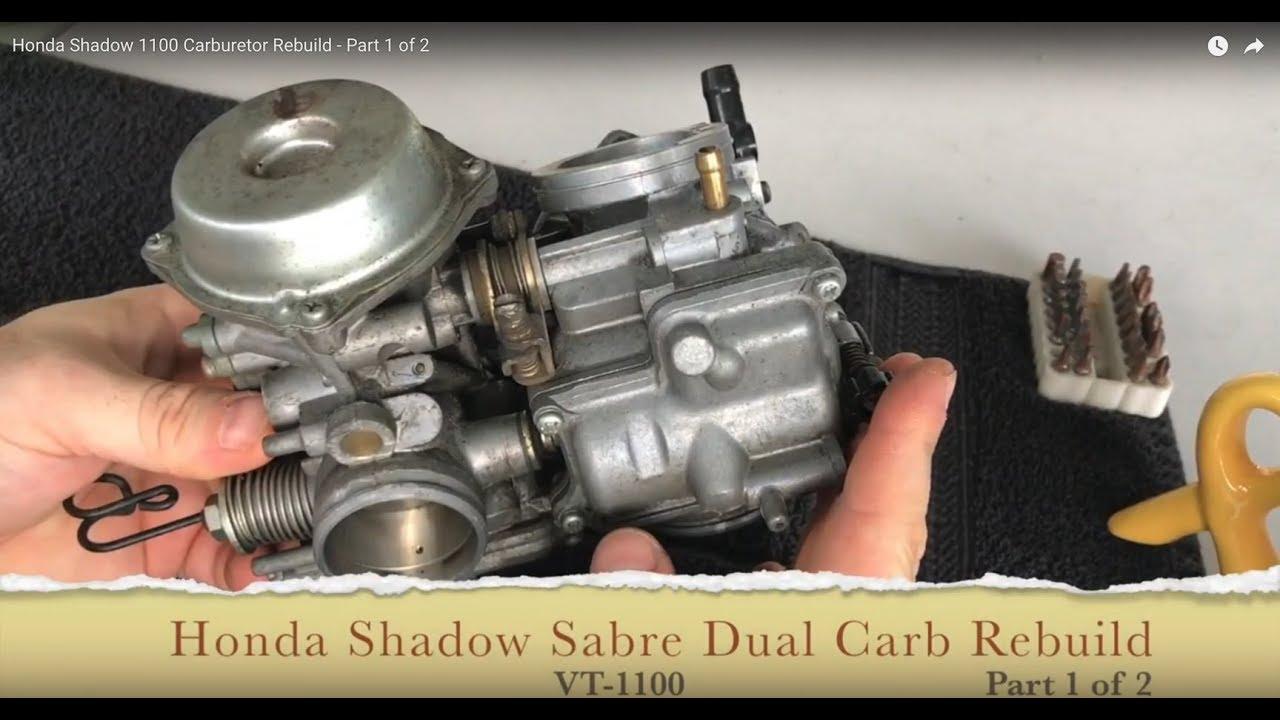 honda shadow vt1100 carburetor rebuild part 1 of 2 [ 1280 x 720 Pixel ]