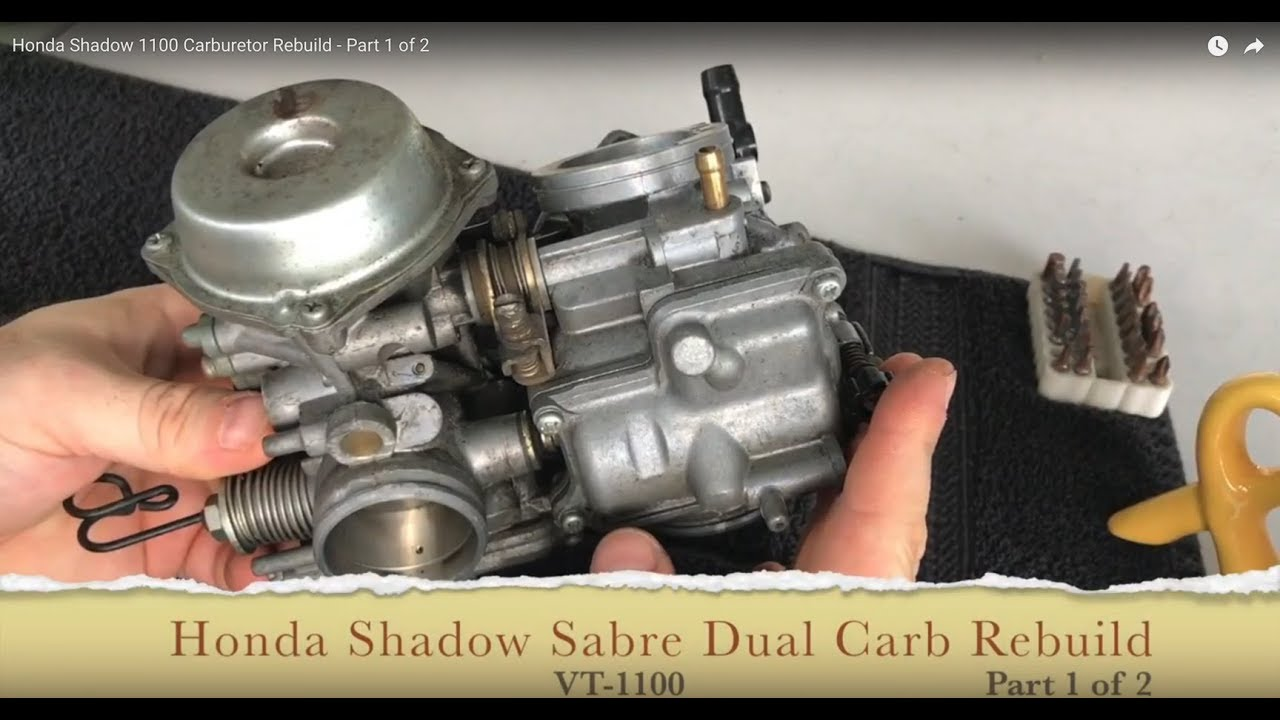 medium resolution of honda shadow vt1100 carburetor rebuild part 1 of 2