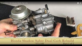Honda Shadow VT1100 Carburetor Rebuild - Part 1 of 2