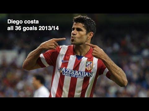 Diego Costa - All 36 Goals 2013/14 - Atletico Madrid - HD