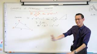 Converse of Pythagoras' Theorem (1 of 2: What is a converse?)