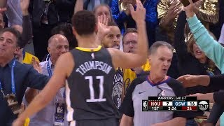 Stephen Curry Almost Punches Ref in the Face - Game 4 | Rockets vs Warriors | 2018 NBA West Finals