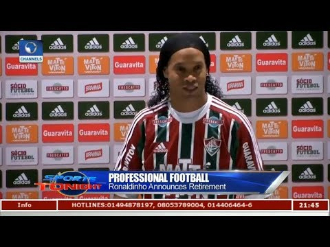 Ronaldinho Announces Retirement From Football | Sports Tonight |
