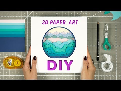 DIY | How To Make a 3D Paper Sculpture | Time  Lapse | OLGA SKOROKHOD