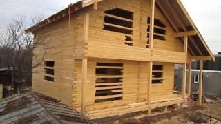 видео Дом из обрезного бруса