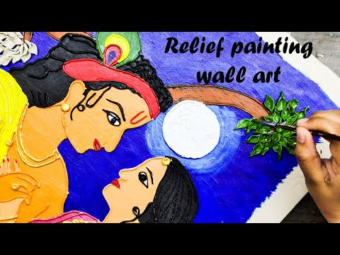 Relief Painting / Wall art / step by step tutorial