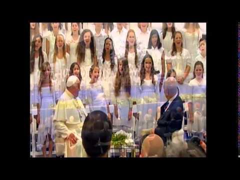 """Youth Choir sings fabulous""""Hallelujah"""" before Pope Fancis in Israel"""