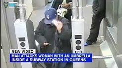 Police: Man whacks woman over head with umbrella on Queens subway platform