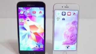مقارنة ايفون 6 و جالكسي اس 5 iphone 6 vs galaxy s5