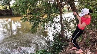 Best Girl Fishing Challenge For Giant Snakehead Fish