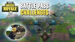Fortnite | Battle Pass Challenges | Week #4 | Vehicle Tower, Rock Sculpture & Hedges Location FOUND!
