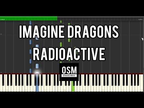 Imagine Dragons - Radioactive | Paino Synthesia |  SHEET MUSIC + MIDI | HD