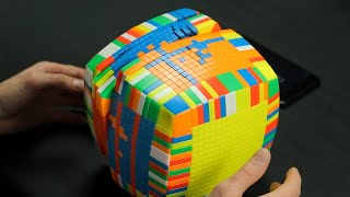 Solving the largest Rubik's Cube in the World | IMPOSSIBLE 17x17x17 Cube Puzzle