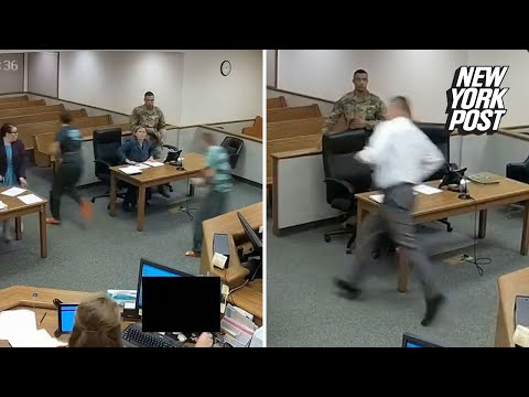 Badass judge chases down fleeing suspect