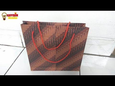 Cara membuat paper bag\Tas dari kertas kado | tutorial ide kreatif