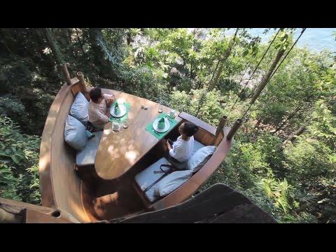 Treepod Dining at Soneva Kiri Koh Kood Thailand