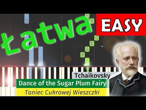 🎹 Dance of the Sugar Plum Fairy (Taniec cukrowej wieszczki) - Piano Tutorial (łatwa wersja) (EASY) 🎹