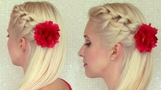hair styles prom knotted headband braid tutorial braided hairstyle for 7562