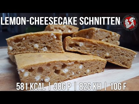 Lemon-Cheesecake Schnitten | Post Workout Meal | High Carb Low Fat
