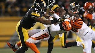 Bengals Kevin Huber suffers broken jaw on Antonio Brown punt return HD
