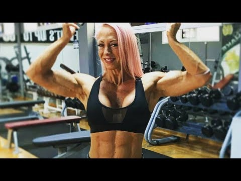49 years young hot muscle woman Nathalie Schmidt
