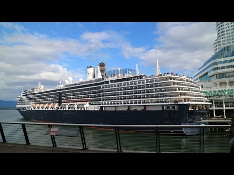 Cruise Ship Noordam is leaving Vancouver for a cruise to Alaska