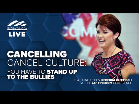 Cancelling Cancel Culture: You Have To Stand Up To The Bullies | Lt. Gov. Rebecca Kleefisch LIVE