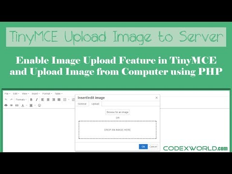 How to Upload Image in TinyMCE Editor using PHP