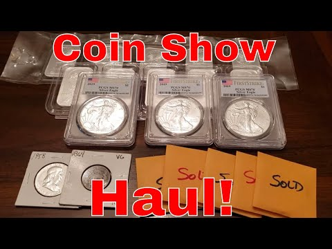 Local Coin Show Pickups! Silver Bullion Bars And Rounds For Stacking And American Silver Eagles!