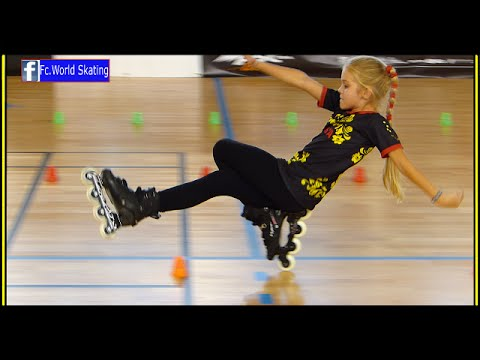 Thumbnail: Fantastic little girl ! the best talent in the world 2016 Rollerblade Freestyle Slalom dancing usa