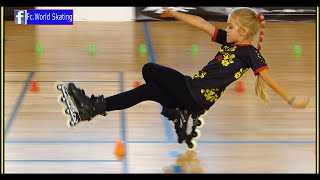 "Fantastic little girl !! Rollerblade  Freestyle Slalom  World Championship Paris 2014 (""dancing"")"