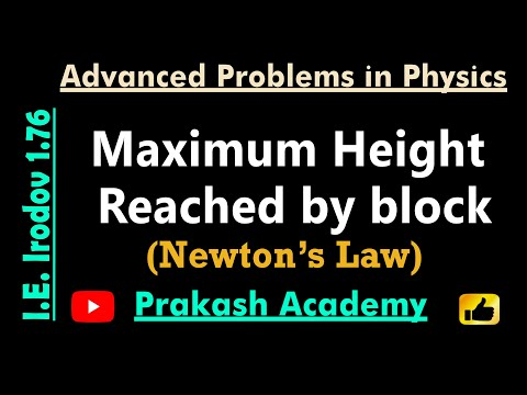 Law of Motion  6  PProblem 1 76 for IIT by Guru Sir @Ranchi