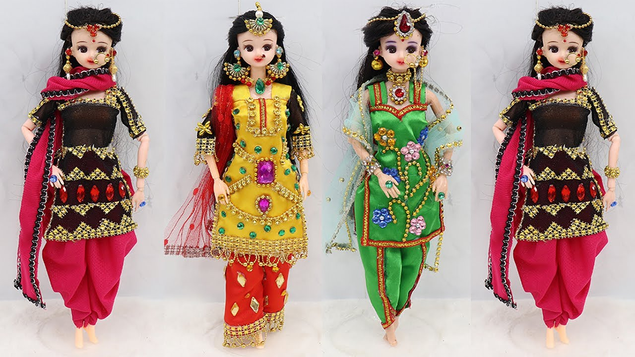 3 Doll decoration ideas with Clothes | Doll decoration ideas | #6