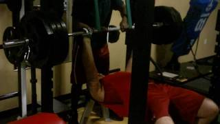 James kim highschool 455lb reverse band bench