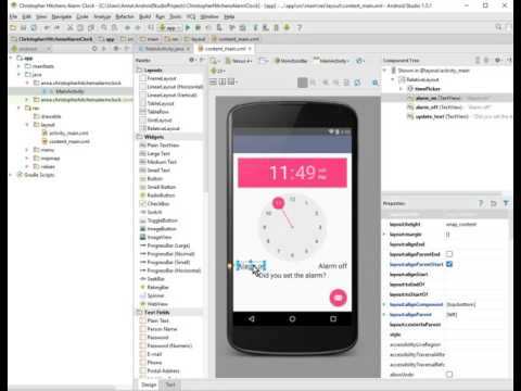 Android Alarm Clock Tutorial: Part 2, Initializing UI